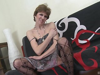 Amateur fucking between a younger man and dirty mature Clear off