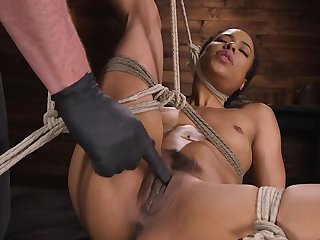 Ebony girl gets predestined up and used by her white master