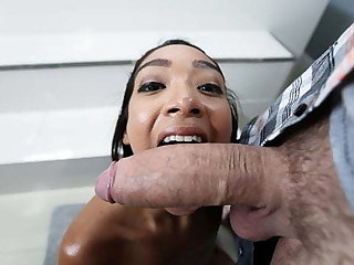 Petite Ebony Teen Sarah Lace Plays With respect to Big Weasel words