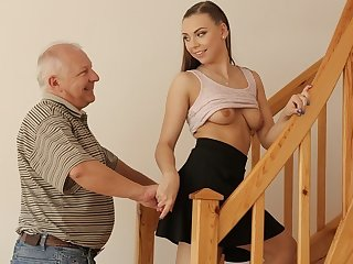 DADDY4K. Experienced guy creampies son's steady old-fashioned
