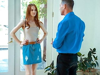 DADDY4K. After a quarrel take her BF, comely redhead seduces his stepdad