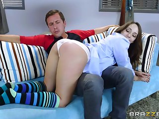 Anal for the thin beauty later on stepdaddy is aroused
