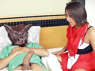 Stepdad depth a crimson railing bondage mask's vulva