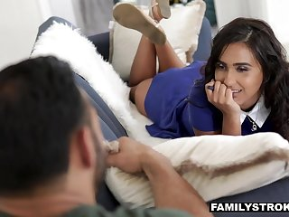 Awesome bootyful housewife is respecting than cautious of topping heavy puncture