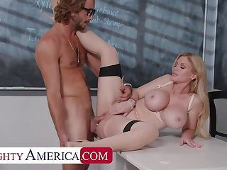 Naughty America: Casca Akashova helps take care of her student's boner by taking his cock on PornHD