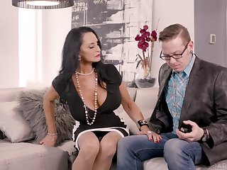 Experienced stepmom is teaching young couple how to make love along the same lines as there's no to be to come